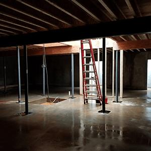 Set Concrete Garage Floor